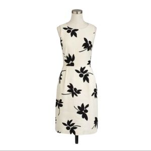 J.Crew Sleeveless Printed Floral Sheath Dress